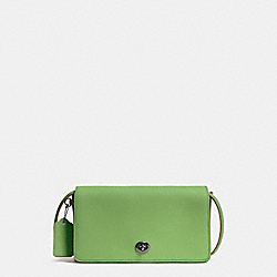 COACH F37296 Dinky In Glovetanned Leather DARK GUNMETAL/PISTACHIO