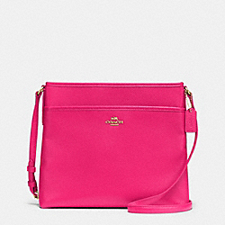 COACH F37321 - FILE BAG IN PEBBLE LEATHER IMITATION GOLD/PINK RUBY