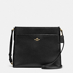 COACH F37321 File Bag In Pebble Leather IMITATION GOLD/BLACK