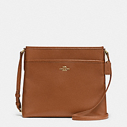 COACH F37321 File Bag In Pebble Leather IMITATION GOLD/SADDLE