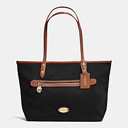 COACH F37336 Tote In Polyester Twill IMITATION GOLD/BLACK F37336