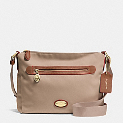 COACH F37337 File Bag In Polyester Twill LIGHT GOLD/STONE