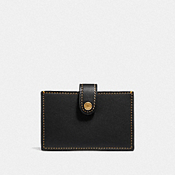 COACH F37367 Accordion Card Case In Colorblock BLACK MULTI/BRASS