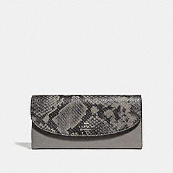 COACH F37379 Slim Envelope Wallet HEATHER GREY/SILVER