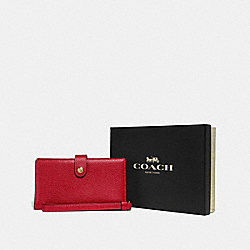 COACH F37390 Boxed Phone Wristlet LI/1941 RED