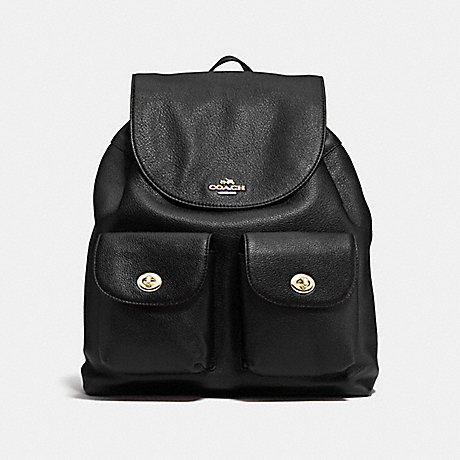 1dd0fd5482b8 COACH F37410 - BILLIE BACKPACK IN PEBBLE LEATHER - IMITATION GOLD ...