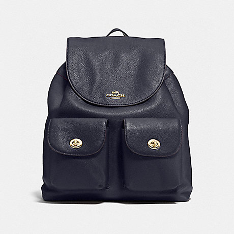 COACH f37410 BILLIE BACKPACK IMITATION GOLD/MIDNIGHT