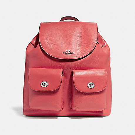 COACH f37410 BILLIE BACKPACK SILVER/WATERMELON