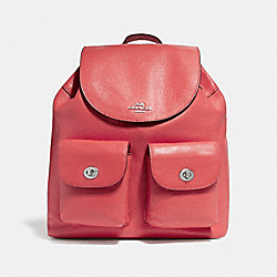COACH F37410 - BILLIE BACKPACK SILVER/WATERMELON
