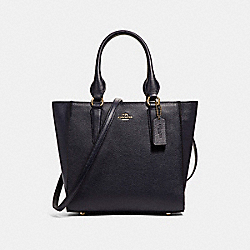CROSBY CARRYALL 24 IN PEBBLE LEATHER - f37415 - LIGHT GOLD/NAVY