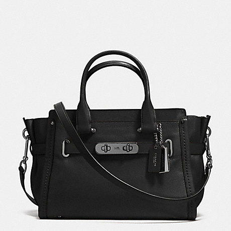 COACH f37439 COACH SOFT SWAGGER 27 BLACK/DARK GUNMETAL