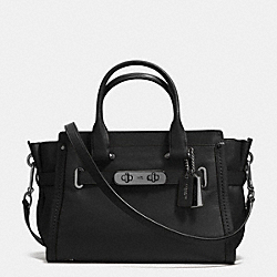 COACH SOFT SWAGGER 27 - f37439 - BLACK/DARK GUNMETAL