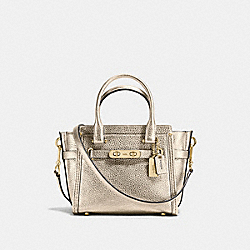COACH F37444 Coach Swagger 21 Carryall In Pebble Leather LIGHT GOLD/PLATINUM