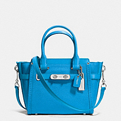 COACH F37444 - COACH SWAGGER 21 CARRYALL IN PEBBLE LEATHER SILVER/AZURE