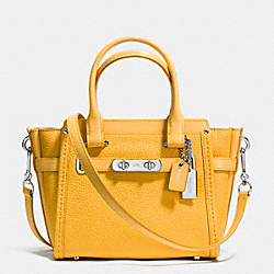 COACH SWAGGER 21 CARRYALL IN PEBBLE LEATHER - f37444 - SILVER/CANARY