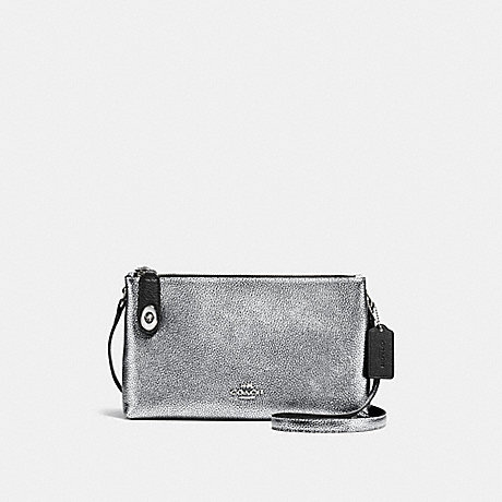 CROSBY CROSSBODY IN BICOLOR LEATHER - COACH F37453 - SILVER/SILVER/BLACK