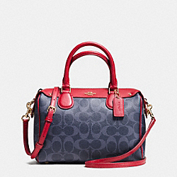 COACH F37480 Mini Bennett Satchel In Signature Denim IMITATION GOLD/DENIM