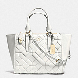 CROSBY CARRYALL IN CANYON QUILT LEATHER - f37486 - LIGHT GOLD/CHALK