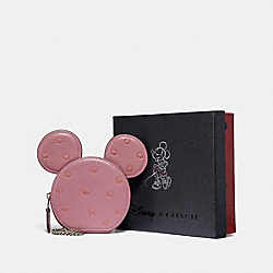 COACH F37539 - BOXED MINNIE MOUSE COIN CASE SV/ROSE