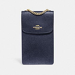 COACH F37543 - NORTH/SOUTH PHONE CROSSBODY MIDNIGHT/IMITATION GOLD
