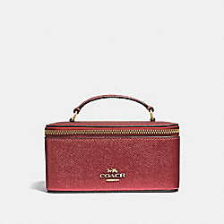 VANITY CASE - F37568 - METALLIC CURRANT/LIGHT GOLD
