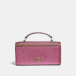 COACH F37568 Vanity Case METALLIC ANTIQUE BLUSH/LIGHT GOLD