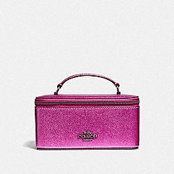 COACH F37568 Vanity Case METALLIC CERISE/BLACK ANTIQUE NICKEL