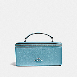 COACH F37568 Vanity Case METALLIC SKY BLUE/SILVER