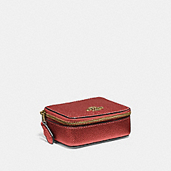 COACH F37569 - TRIPLE PILL BOX METALLIC CURRANT/LIGHT GOLD