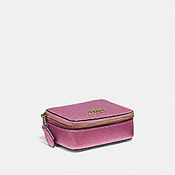 COACH F37569 - TRIPLE PILL BOX METALLIC ANTIQUE BLUSH/LIGHT GOLD