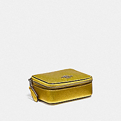 COACH F37569 - TRIPLE PILL BOX METALLIC YELLOW/SILVER