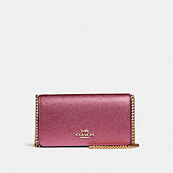 COACH F37570 Crossbody METALLIC ANTIQUE BLUSH/LIGHT GOLD