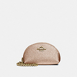 COACH F37572 Half Moon Coin Case ROSE GOLD/LIGHT GOLD