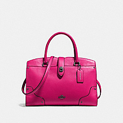 COACH F37575 Mercer Satchel 30 CERISE/DARK GUNMETAL