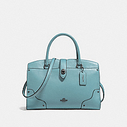 COACH F37575 Mercer Satchel 30 CLOUD/DARK GUNMETAL