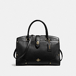COACH F37575 - MERCER SATCHEL 30 BLACK/LIGHT GOLD