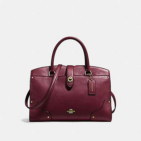 5cf2ef90b COACH F37575 - MERCER SATCHEL 30 - BURGUNDY/LIGHT GOLD | COACH HANDBAGS
