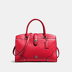 COACH F37575 Mercer Satchel 30 TRUE RED/SILVER