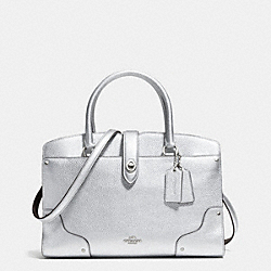 COACH F37575 Mercer Satchel 30 In Grain Leather SILVER/SILVER