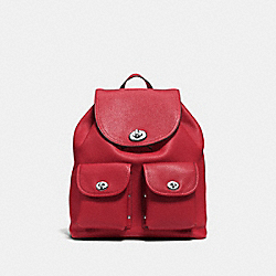COACH F37582 Turnlock Rucksack RED CURRANT/SILVER