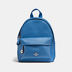 COACH F37590 Mini Campus Backpack LAPIS/SILVER