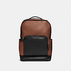 GRAHAM BACKPACK - F37599 - SADDLE/BLACK ANTIQUE NICKEL
