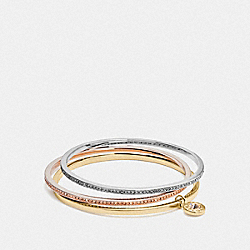 COACH F37602 Boxed Bangle Set MULTICOLOR