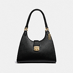 COACH F37606 Avary Shoulder Bag BLACK/LIGHT GOLD