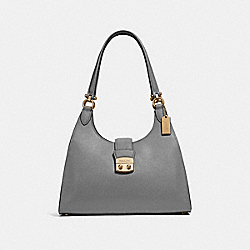 COACH F37606 Avary Shoulder Bag HEATHER GREY /LIGHT GOLD