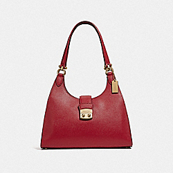 COACH F37606 Avary Shoulder Bag RUBY/LIGHT GOLD