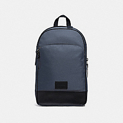 COACH F37610 Slim Backpack MIDNIGHT NAVY/BLACK ANTIQUE NICKEL