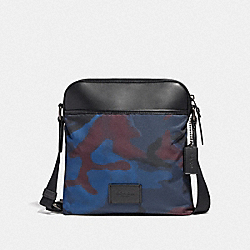 COACH F37614 Crossbody With Halftone Camo Print BLUE MULTI/BLACK ANTIQUE NICKEL