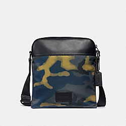 COACH F37614 - CROSSBODY WITH HALFTONE CAMO PRINT GREY MULTI/BLACK ANTIQUE NICKEL