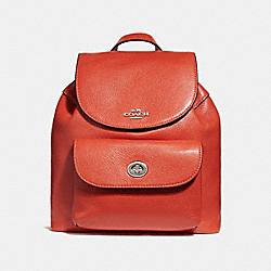 COACH F37621 Mini Billie Backpack ORANGE RED/SILVER